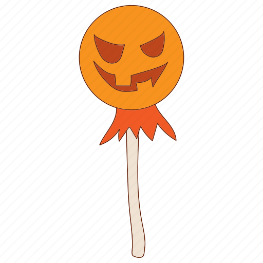 autumn, cartoon, halloween, orange, pumpkin, scarecrow, season icon