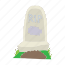 cartoon, death, grave, graveyard, headstone, stone icon