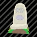 stone, death, graveyard, headstone, cartoon, grave icon