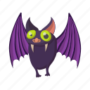 animal, bat, cartoon, fly, mammal, wildlife, wing icon