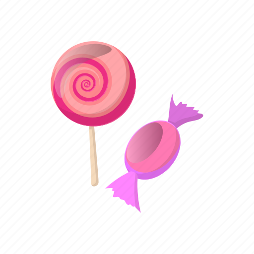 candy, cartoon, dessert, food, halloween, pink, sweet icon