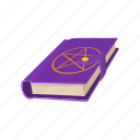 book, cartoon, cover, education, literature, paper, star icon