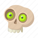 bone, cartoon, death, halloween, head, medical, skull icon