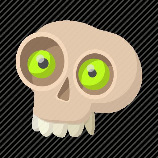 bone, cartoon, death, halloween, head, medical, skull icon