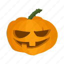 autumn, cartoon, halloween, lantern, orange, organic, pumpkin icon