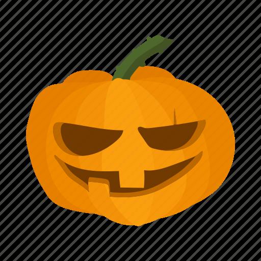 autumn, cartoon, halloween, lantern, orange, organic, pumpkin icon