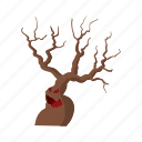 cartoon, dark, halloween, horror, scary, spooky, tree icon