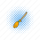 broom, comics, equipment, halloween, handle, sweeping, witch icon