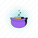 cauldron, comics, cooking, horror, old, purple, witchcraft icon