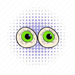 comics, eye, eyeball, fun, halloween, holiday, iris icon
