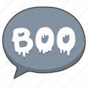 boo, doodle, ghost, halloween, spooky icon