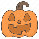 doodle, halloween, horror, pumpkin icon
