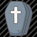 coffin, death, doodle, funeral, halloween, spooky