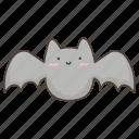 bat, cute, doodle, halloween