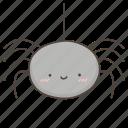 cute, doodle, halloween, spider