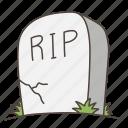 doodle, grave, graveyard, halloween, rip, tombstone