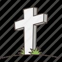 cross, doodle, grave, graveyard, halloween, rip, tombstone