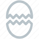 cracked, easter, egg, halloween, holiday, party, scary icon icon