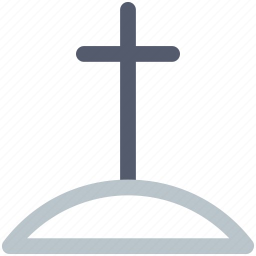 cross, dead, death, grave, halloween icon icon
