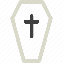 coffin, cross, death, funeral, halloween icon icon