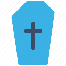 coffin, halloween, scary, vampire icon icon