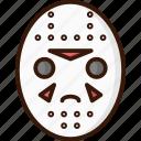 halloween, voorhees, mask, jason icon