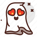 ghost, love, halloween, emoji