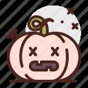 pumpkin, halloween, dead, emoji