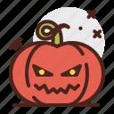 pumpkin, devil, halloween, emoji