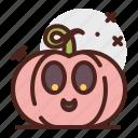 pumpkin, happy, halloween, emoji