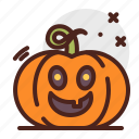 pumpkin, halloween, laugh, emoji