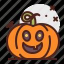 pumpkin, halloween, laugh, emoji