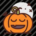 restful, pumpkin, halloween, emoji