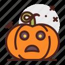 sad, pumpkin, halloween, emoji