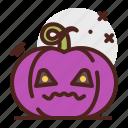 scarry, pumpkin, halloween, emoji