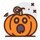 pumpkin, halloween, shocked, emoji