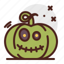 pumpkin, halloween, sick, emoji