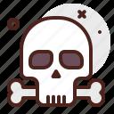 halloween, skull, bone, emoji