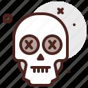 halloween, skull, dead, emoji