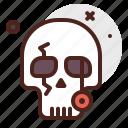 halloween, pirate, skull, emoji