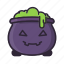 cauldron, glad, halloween, potion, smile, sorcery, witch