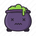 cauldron, halloween, ill, potion, sick, sorcery, witch icon