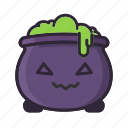 cauldron, halloween, kawaii, potion, sorcery, witch