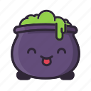 cauldron, halloween, potion, smile, sorcery, witch