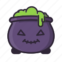 cauldron, halloween, potion, smile, sorcery, terror, witch