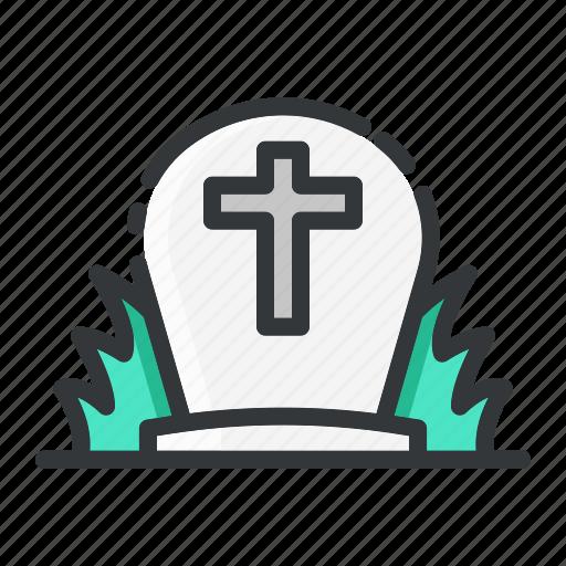 cemetery, gravestone, halloween, tombstone icon