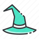 black magic, halloween, hat, witch icon