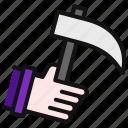 weapon, grim, reaper, halloween, scythe