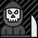 ghost, grim, reaper, halloween, skull