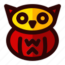 celebration, halloween, holiday, owl, scary, sign icon